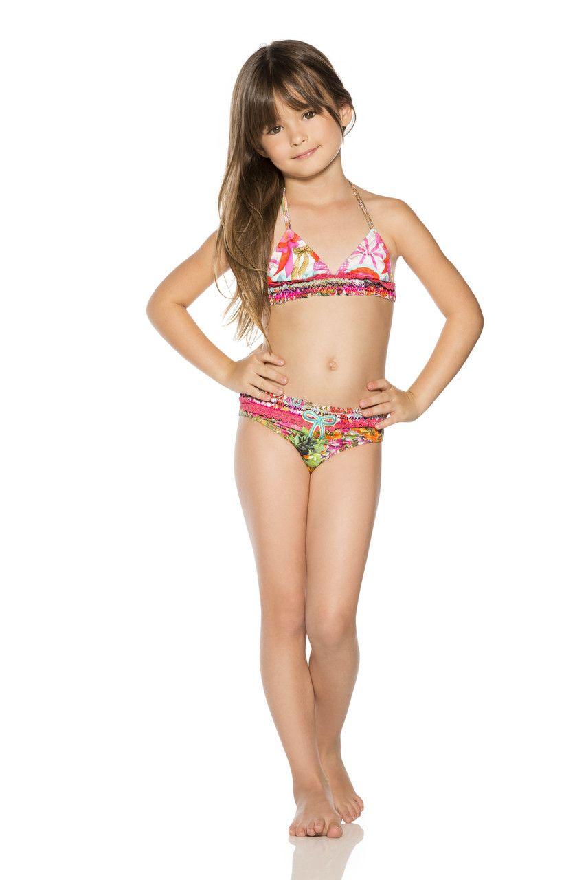 young kids in tight bikini