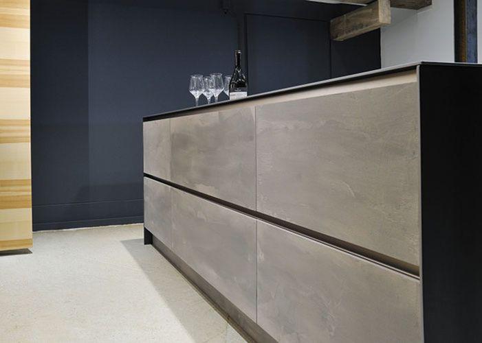 Küchenfront Betonoptik ~ Kräftiger kontrast die fronten in betonoptik der u ecraft beer