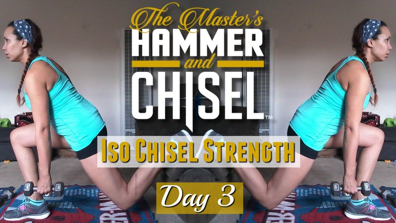 Day 3 | Master's Hammer & Chisel | Get Fit with Tina Marie