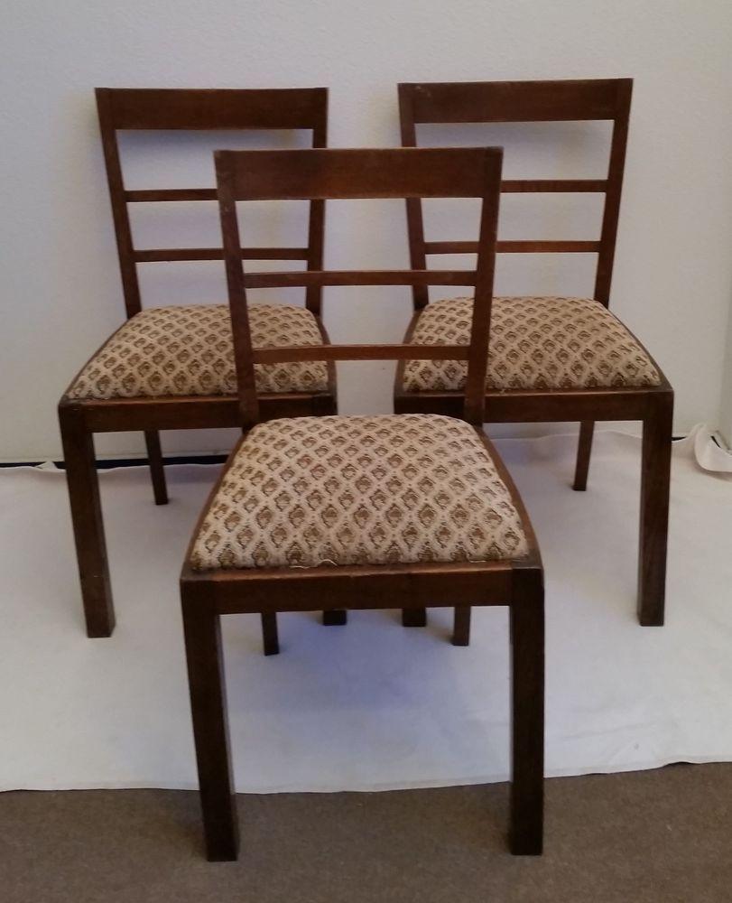 Cool Polsterstuhl Eiche Beste Wahl 3x Stuhl Alt Antik Shabby Massiv Stabil