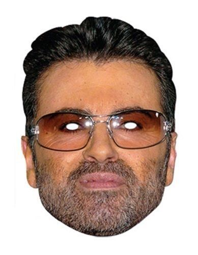 Card Face and Fancy Dress Mask George Clooney Celebrity Mask