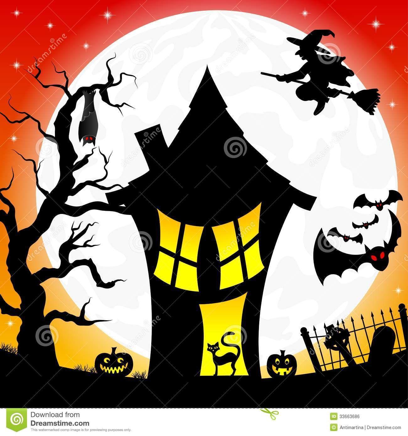 Résultat de recherche dimages pour dessin halloween maison sorcière