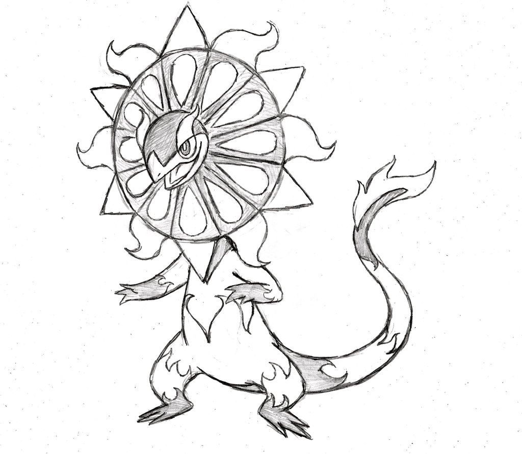 Pokemon Ausmalbilder Solgaleo : Project Fakemon Mega Heliolisk By Xxd17 Deviantart Com On