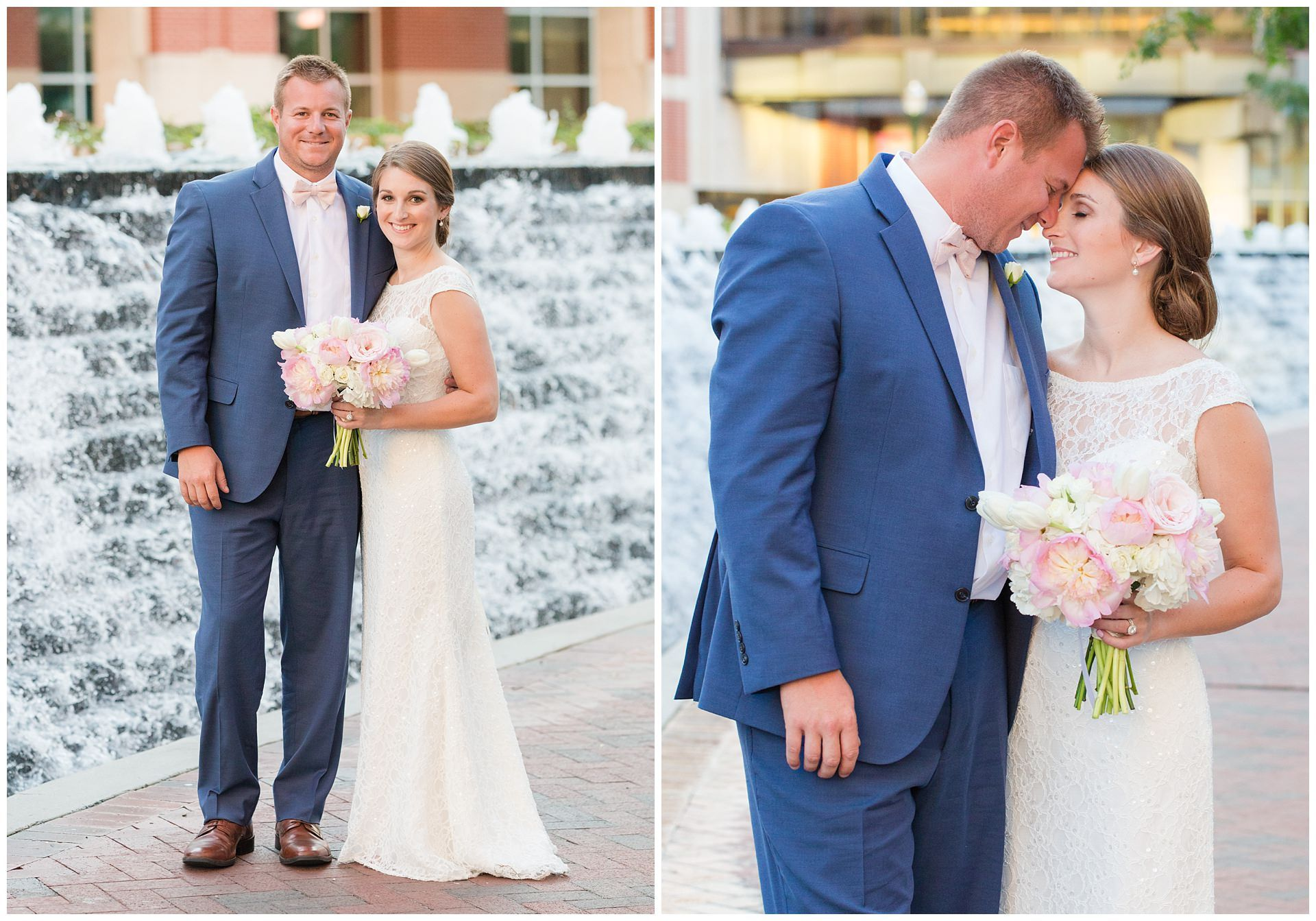 Summer Wedding at St. Peter Catholic Church and the Downtown Hilton ...