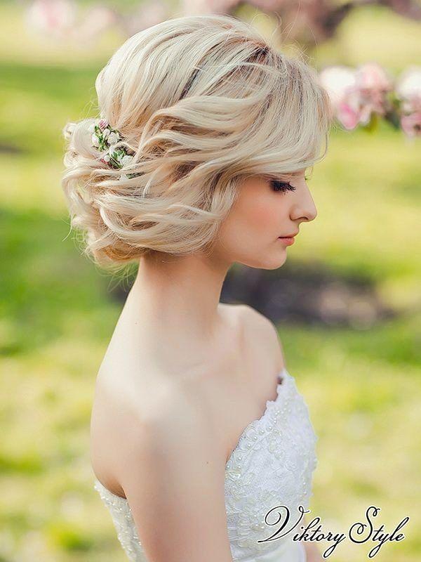 Свадебные прически на волосы под каре