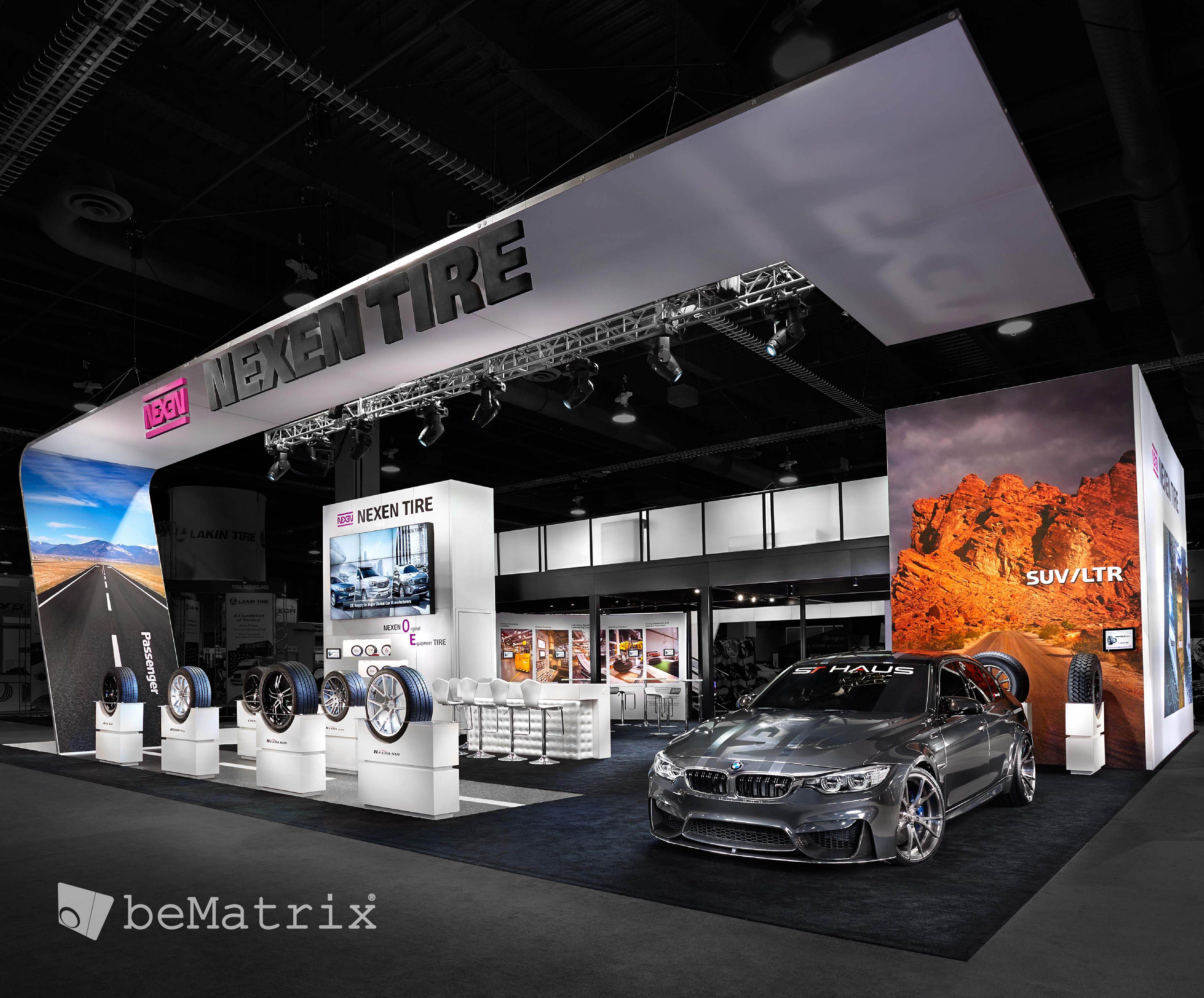 client steelhead productions creates spectacular stand for nexen tire sema 2014 bematrix. Black Bedroom Furniture Sets. Home Design Ideas