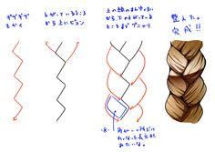 Image Result For How To Draw Anime Braided Hair How To Draw Braids How To Draw Hair Drawing Tutorials For Beginners