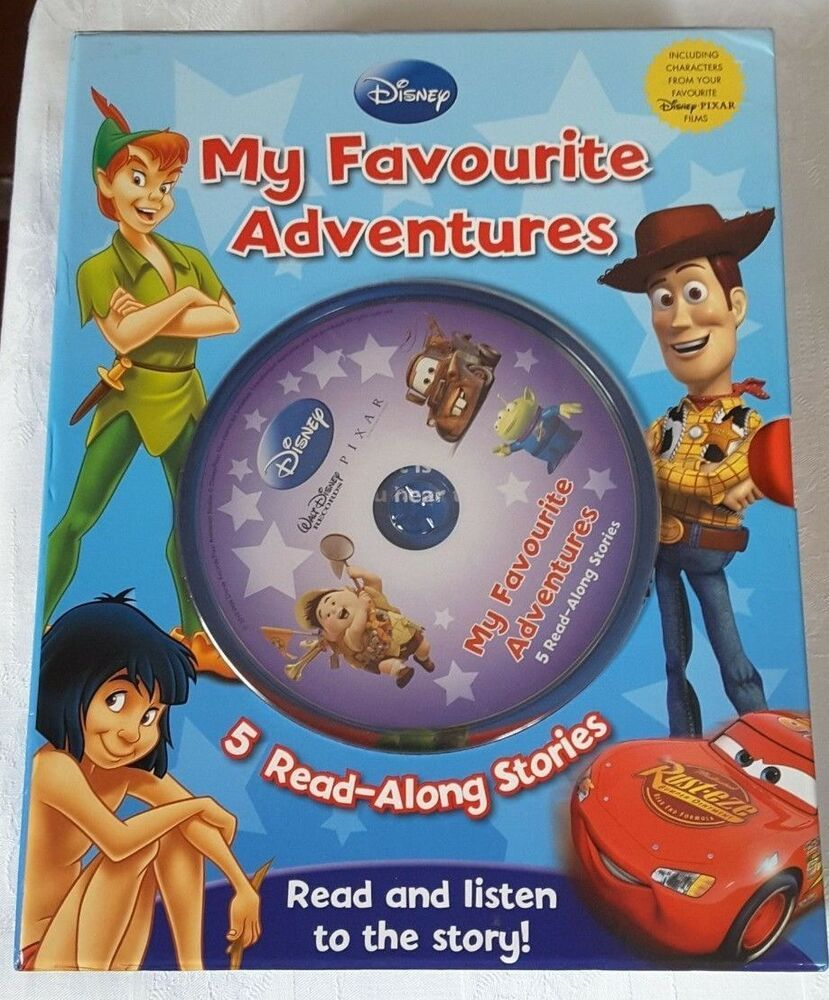 Disney Book & CD My Favourite Adventures 5 Read-along Stories Toy
