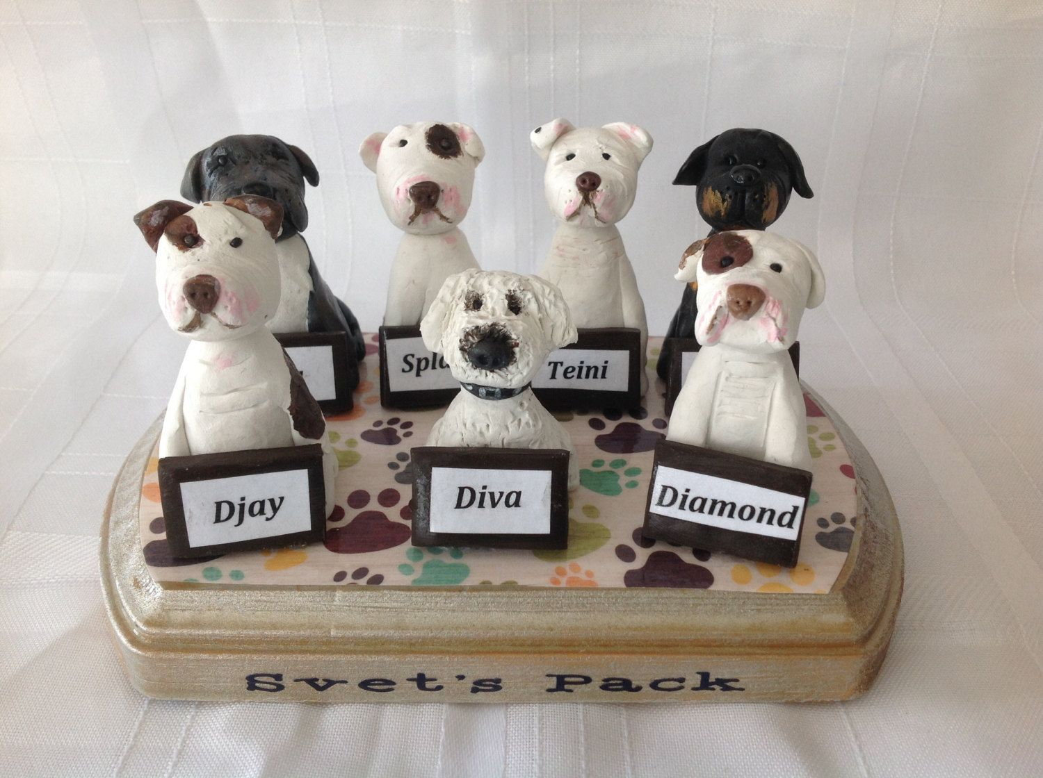 Polymer clay Pet sculpture,pet hospital, Veterinerian,dogs, Yorkie ...
