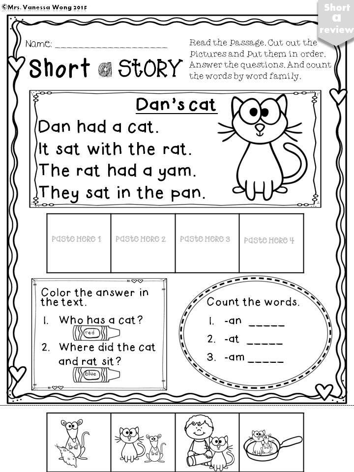 Short a no prep- Short a story download free printables at preview