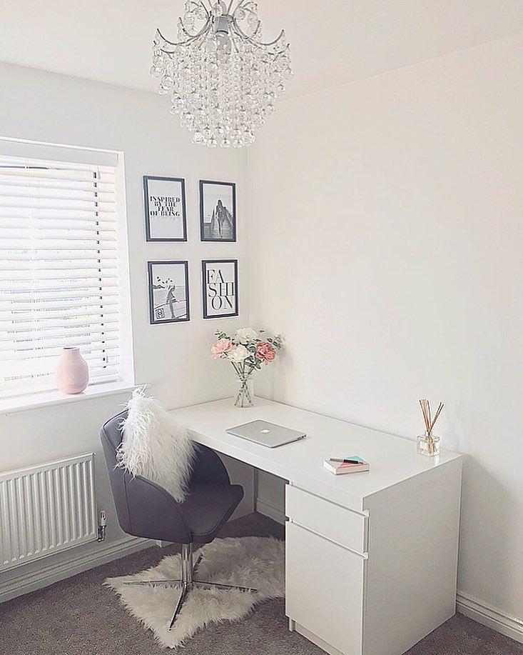 Escrivaninha branca: 60 modelos para decorar seu e