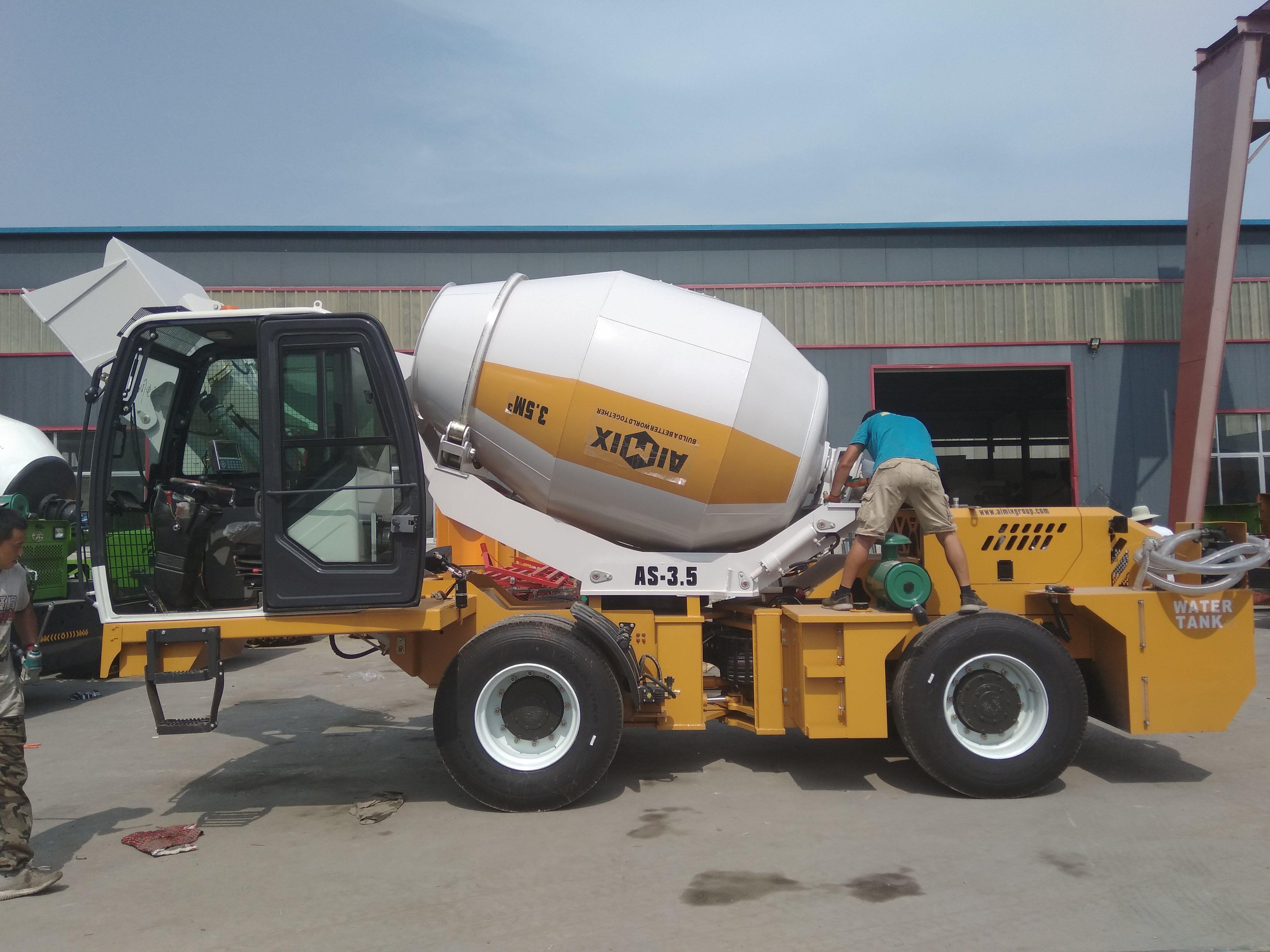 3 5m3 Self Loading Concrete Mixer Truck In 2020 Mixer Truck Concrete Mixers Trucks For Sale