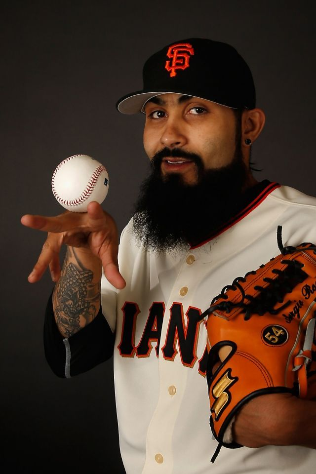 Pitcher Sergio Romo 54 Of The San Francisco Giants Poses For A Portrait During Spring Training Photo Day A San Francisco Giants Sf Giants Baseball Giants Team