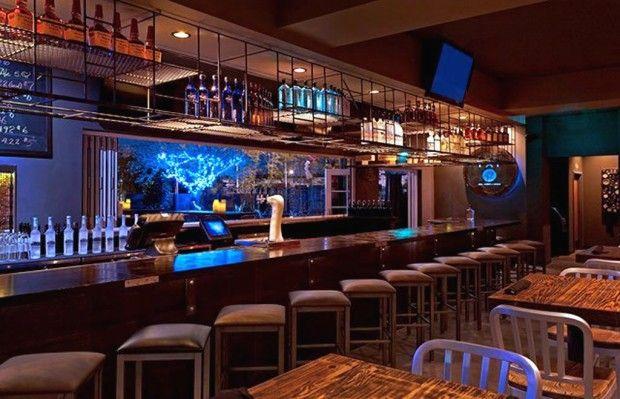 Hotels Resorts Wonderful Commercial Restaurant Bar Hospitality Design With Hanging Bottle Rack Tv W Commercial Bar Design Ideas Bar Furniture Design Bar Design