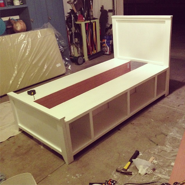 DIY twin bed built in 2 days. Some needs to build this for my little ...