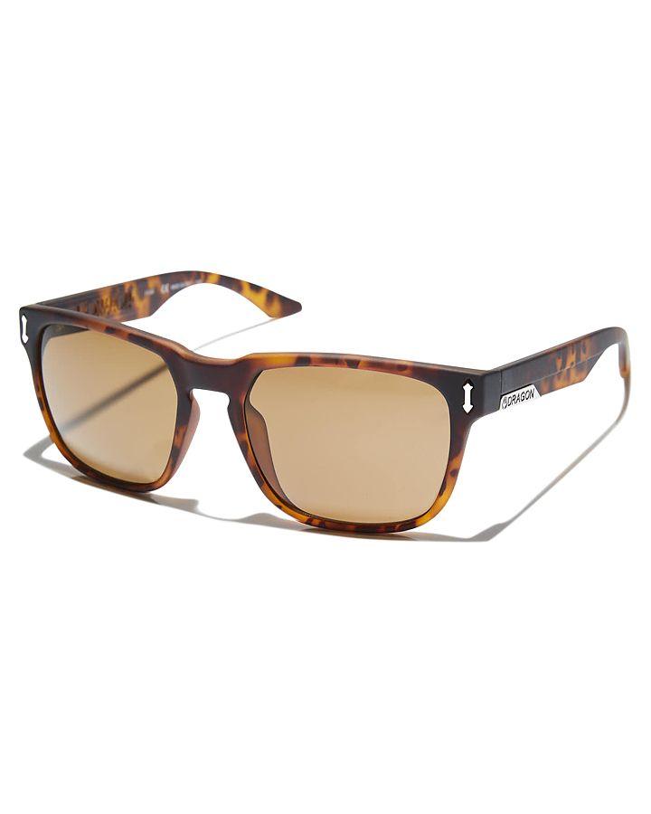 Dragon Monarch Sunglasses Matte Tort Bronze Mens