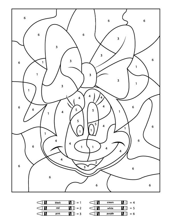 Your Children Will Love These Free Disney Color By Number ...