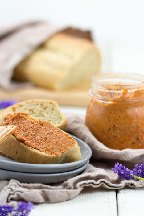 Vegetarischer Aufstrich aus Tomate und Feta - Tulpentag. Foodblog. #frühstückundbrunch