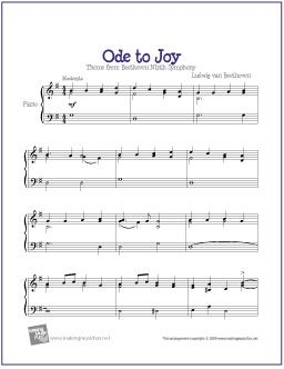 Ode To Joy Free Sheet Music For Intermediate Piano Http