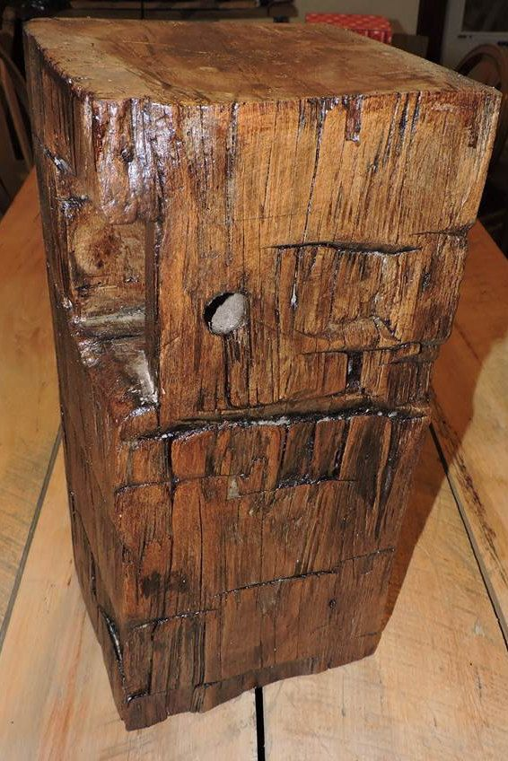 reclaimed barn beam end table by reclaimedbarnsbeams on etsy rh pinterest com