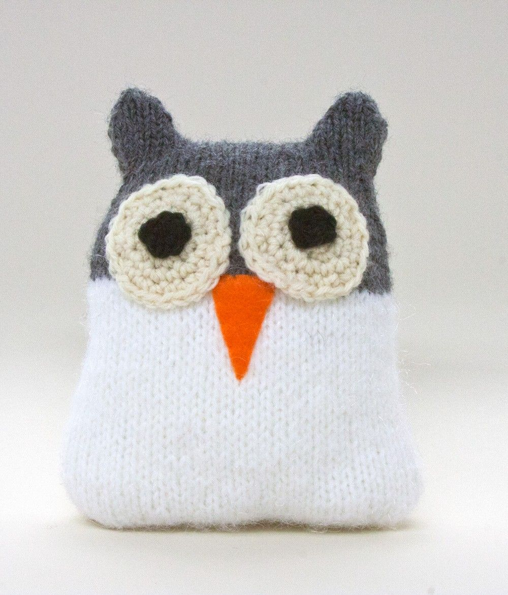 Snow Owl Pattern (Knit) | knitted toys | Pinterest | Owl patterns ...