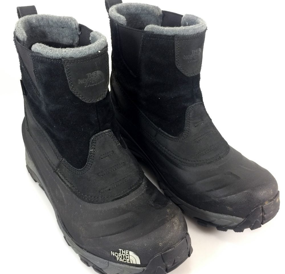The North Face Chilkat Ii Pull On Waterproof Winter Duck Boots Mens 9 Black 8 Uk Mens Winter Boots Duck Boots Mens Winter Duck Boots