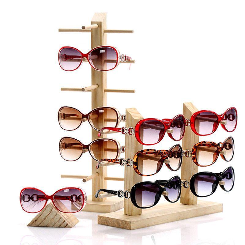 Wooden Glass Sunglass Eyeglass Display Rack Stand Holder Organizer 3//4//5//6-Layer