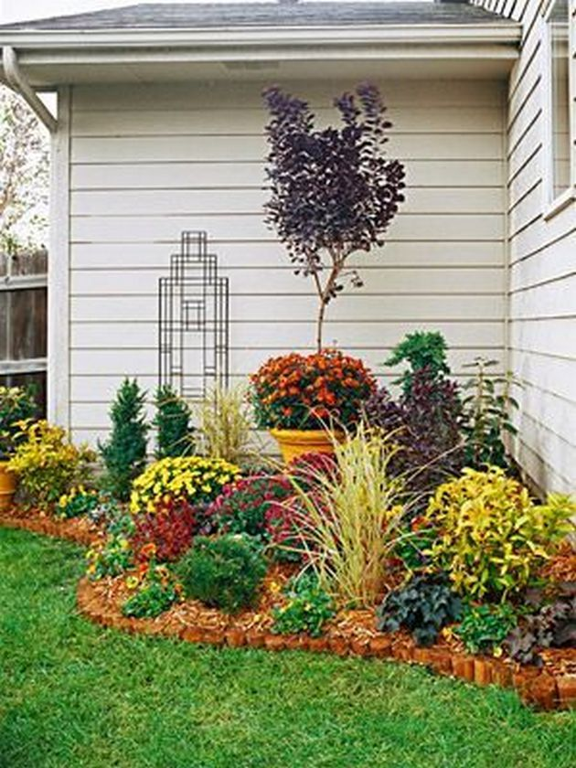 Flower bed ideas in front of
