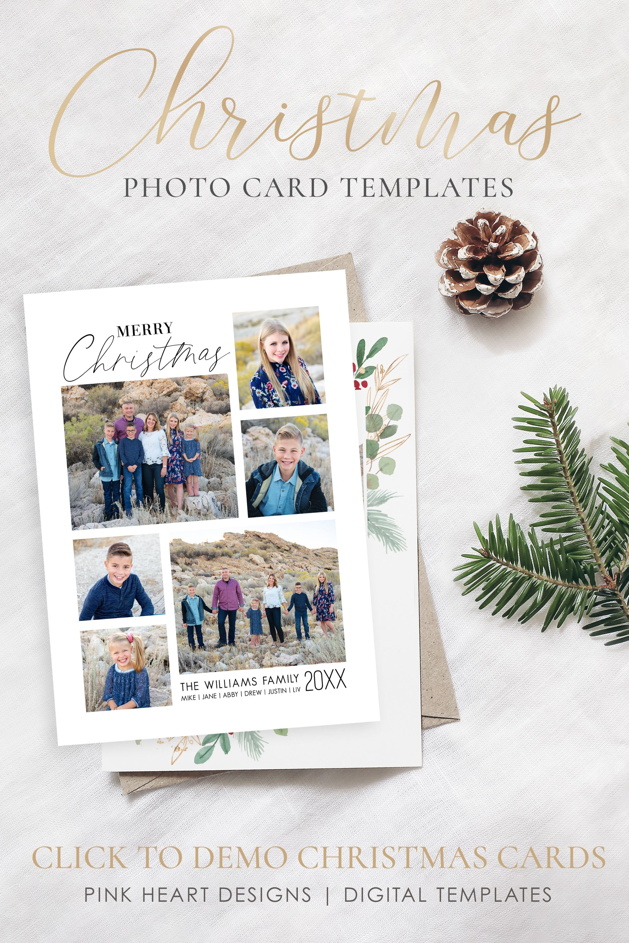 Pin On Christmas Card Templates