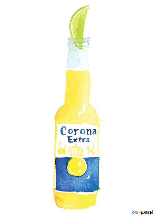 Navycrewneck Baby Will You Be My Corona And Lime Beer Illustration Food Illustrations Drinking Beer