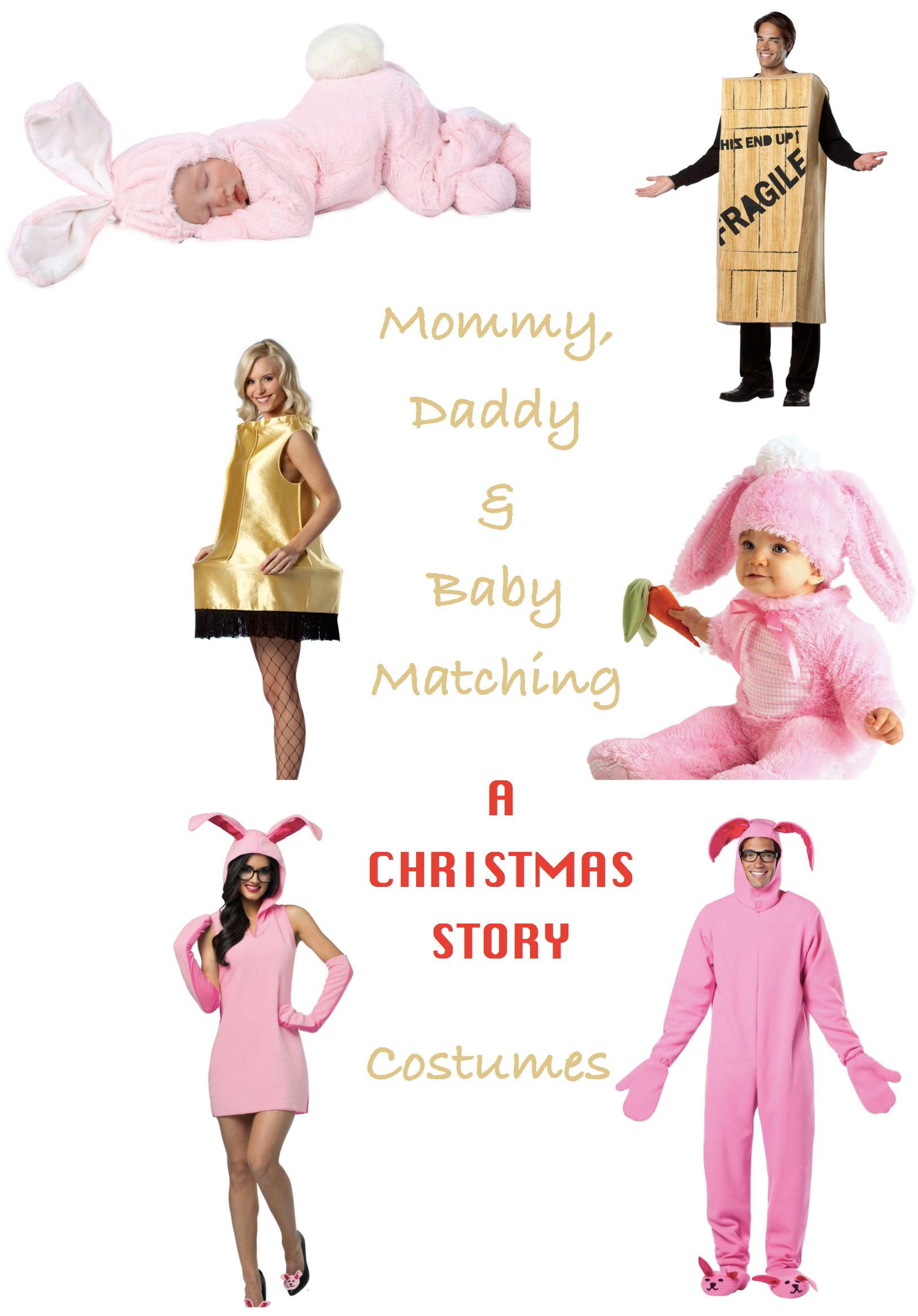 Mommy Daddy and Me A Christmas Story Costumes A
