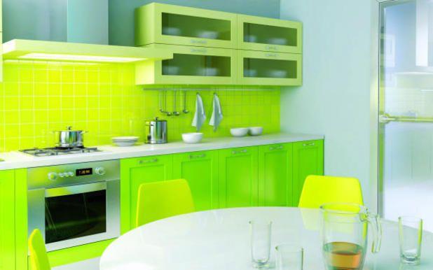 image result for green color modular kitchen design kitchen rh pinterest com