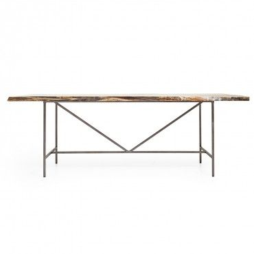 jim denney rectangle dining table handcrafted from salvaged spalted rh pinterest com