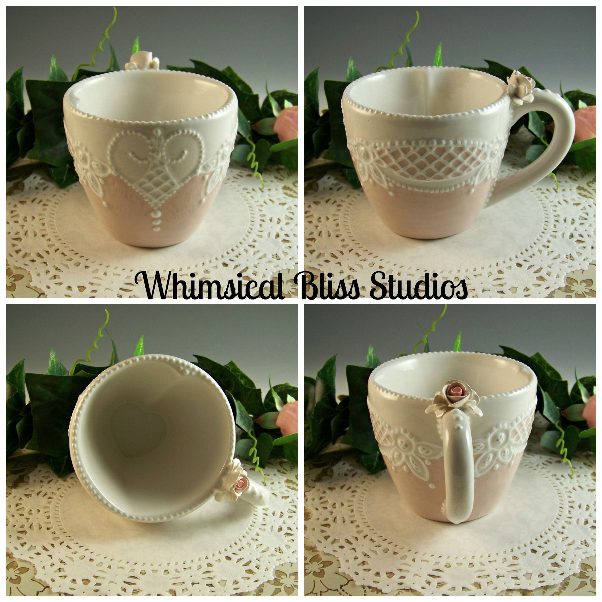 Whimsical Bliss Studios - Heart Peek-a-Boo Mug