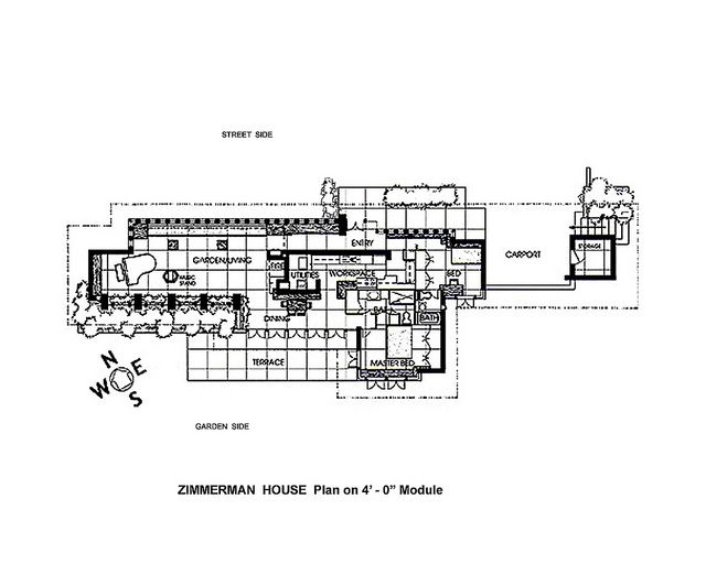Frank Lloyd Wright Zimmerman House Floor Plan