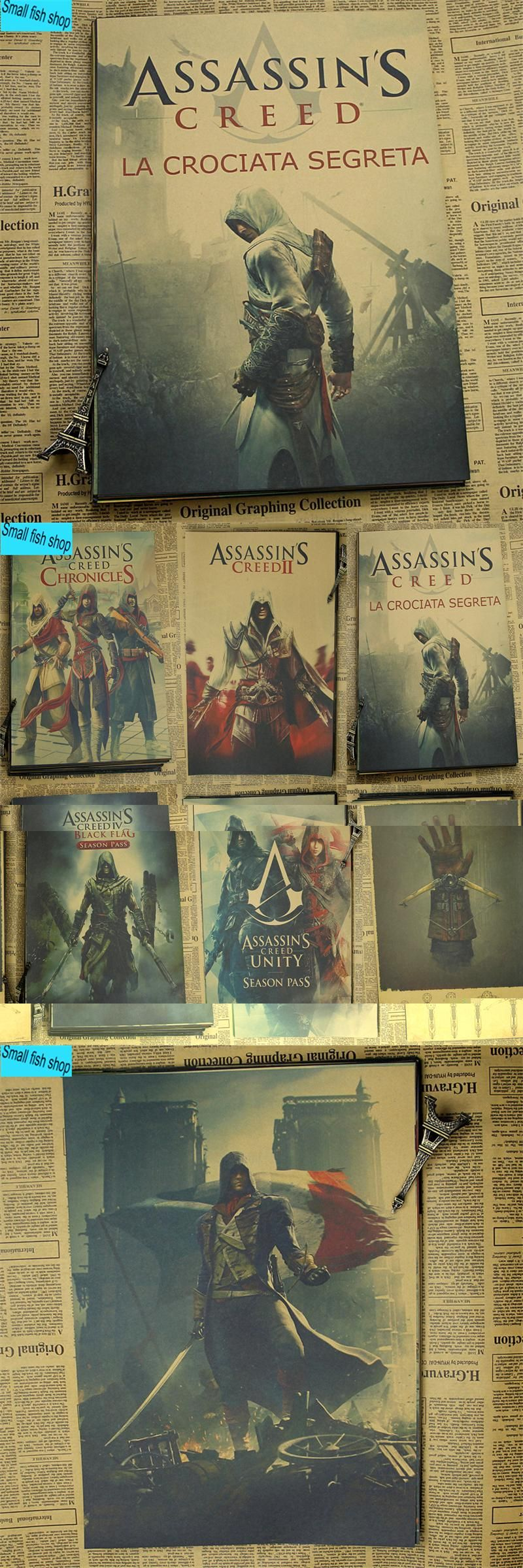 Louisiana Map Decor%0A Assassin u    s Creed A gather The black flag Fraternity Home Furnishing  decoration Kraft Game Poster Drawing core