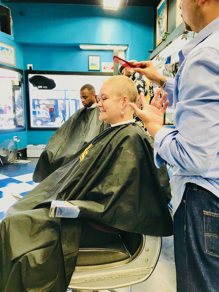 First Haircut After Shaving Her Head One Month Ago Contact Me If You