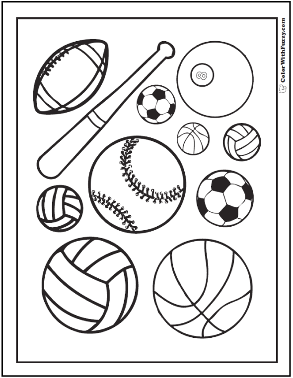 - 121+ Sports Coloring Sheets: Customize And Print PDF Sports Coloring Pages,  Baseball Coloring Pages, Football Coloring Pages