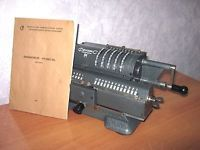 Vintage Mechanical Calculator ADDING MACHINE Counting Machine Accountant USSR