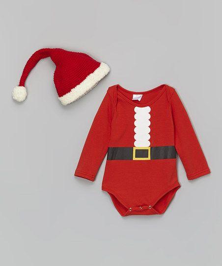 Red Santa Bodysuit & Hat - Infant