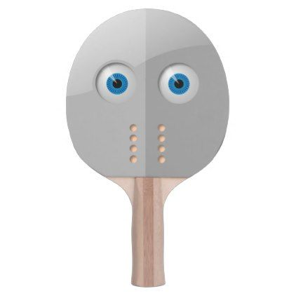 Spooky Mask with Blue Eyes Ping-Pong Paddle - Halloween ...