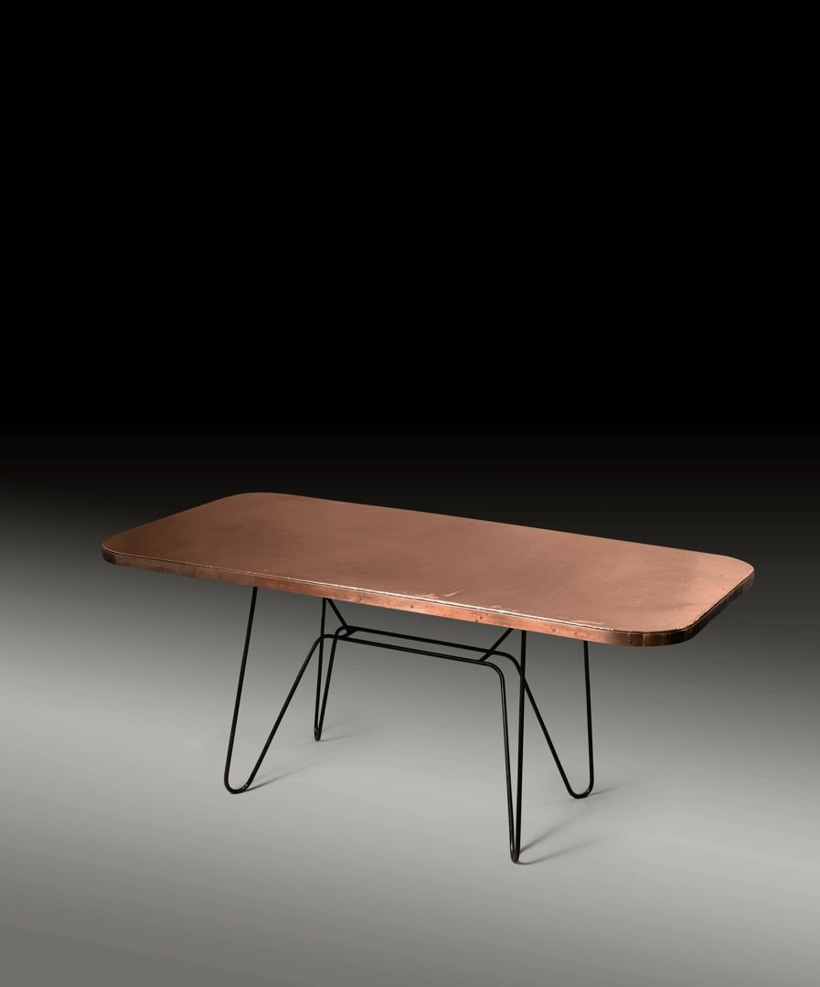 Eileen Gray Copper and Steel Coffee Table