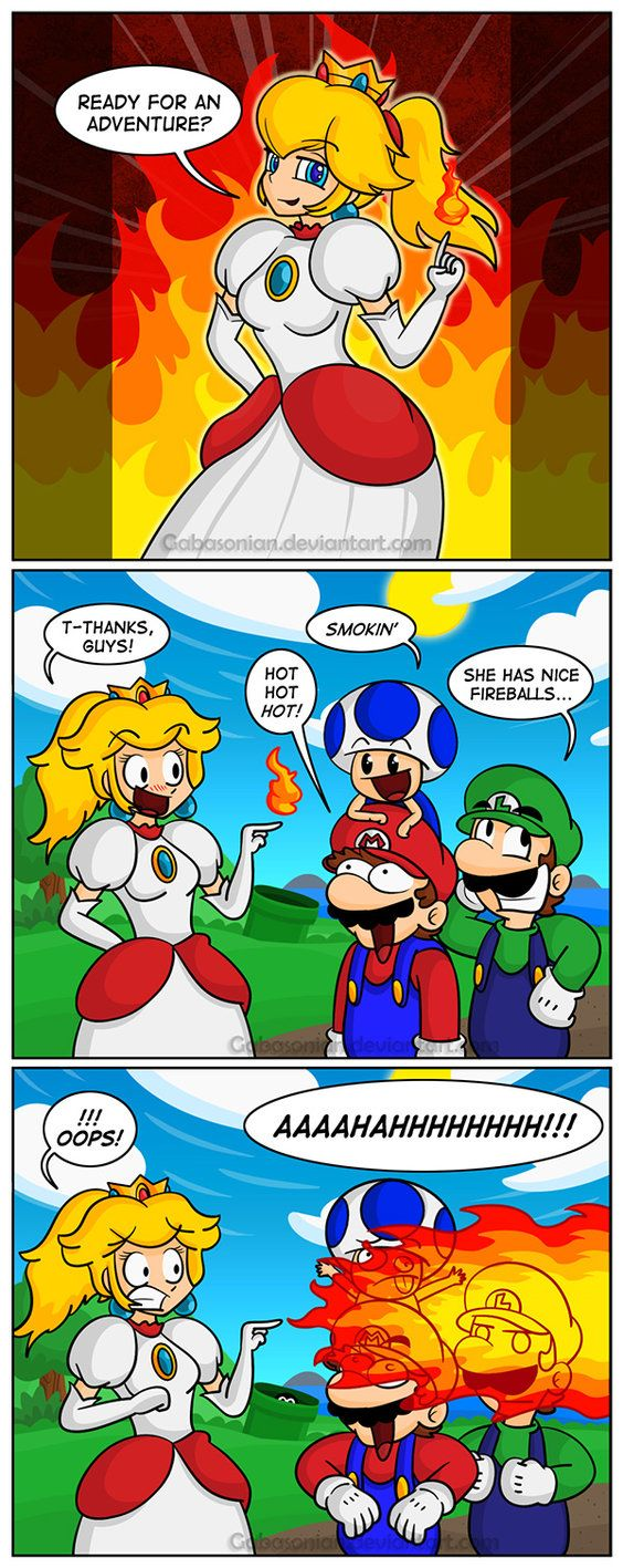 Pics photos funny princess peach pictures - Too Hot By Gabasonian On Deviantart