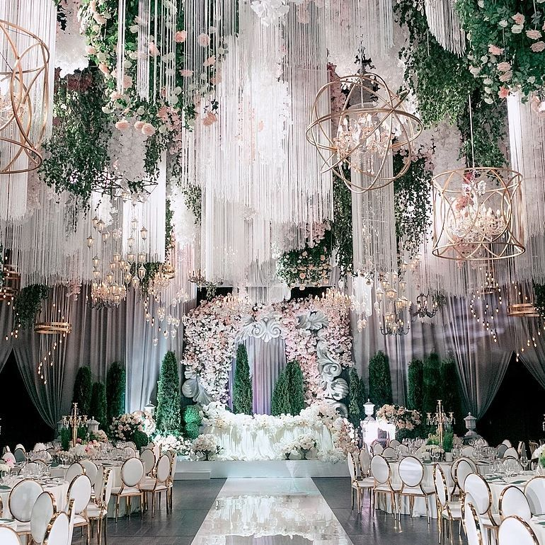 Floral Fairytale Wedding Ceremony And Reception Decor By