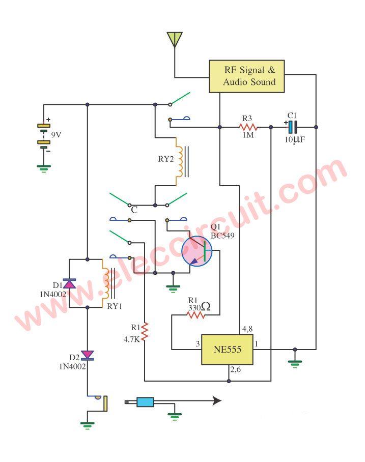 car burglar alarm system with radio wave signal alarm circuits rh pinterest cl