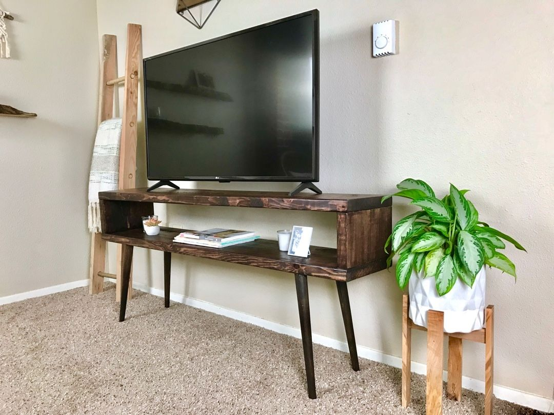 ian hamilton store tv stand media table with angled and tapered rh pinterest com