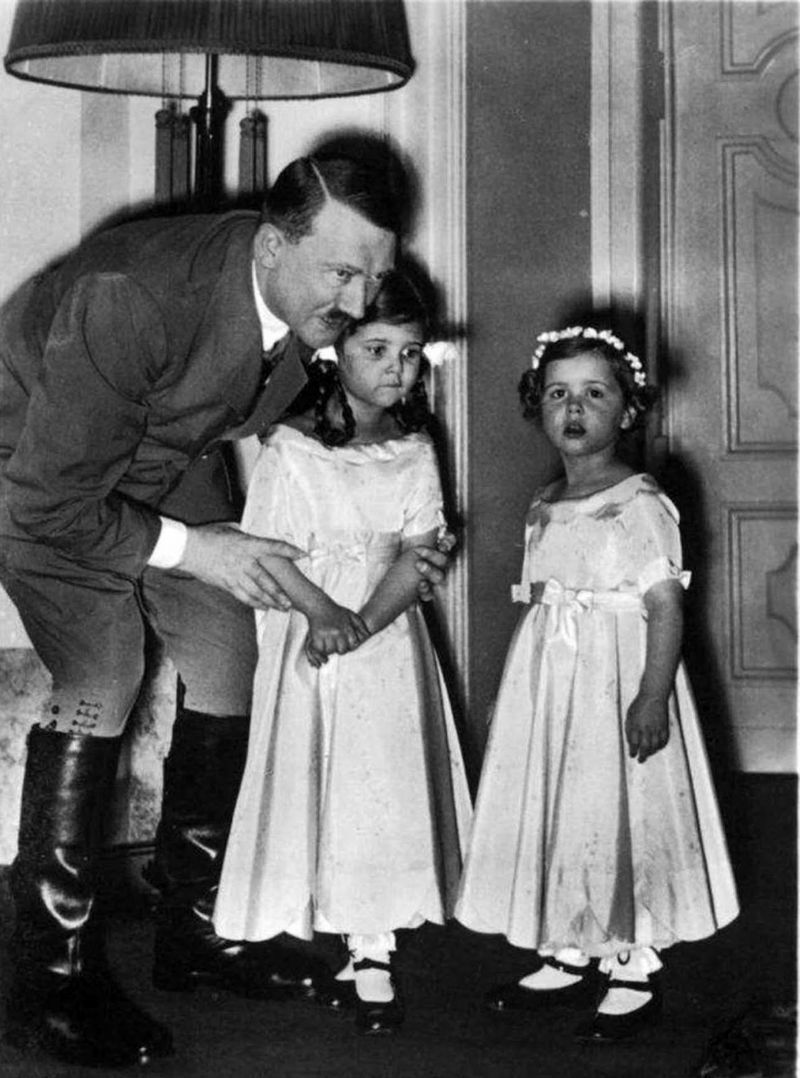 Image result for adolf hitler with children