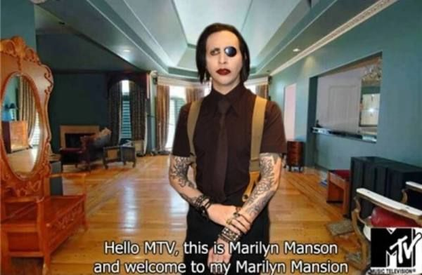 Marilyn Manson And His Marilyn Mansion On Mtv Cribs Best Celeb