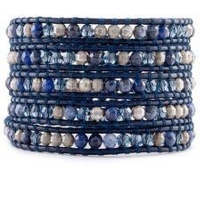 0cbf0fc0b889 Sodalite Mix Wrap Bracelet on Dark Blue | Piedras | Pinterest | Piedras
