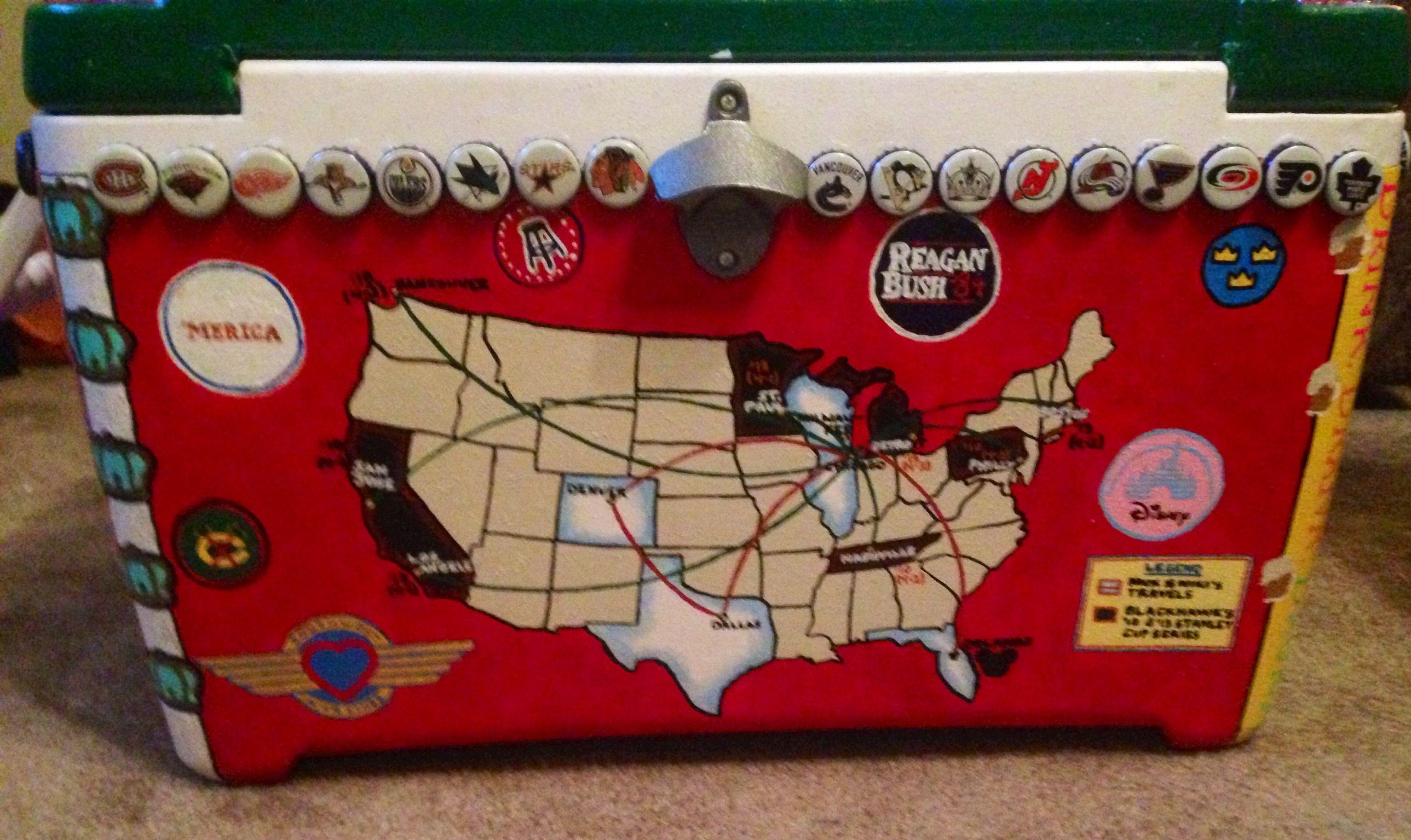 Frat formal cooler Map of United States